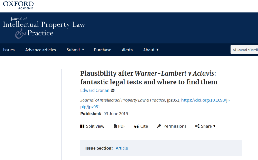 Now available: Plausibility in the JIPLP